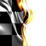 Bandiera Checkered Fotografia Stock Libera da Diritti