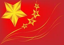 Bandiera Cina. Fotografia Stock Libera da Diritti