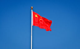 Bandiera cinese Immagini Stock Libere da Diritti