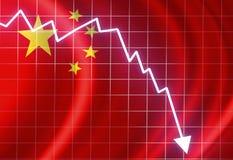 Bandiera cinese Immagine Stock