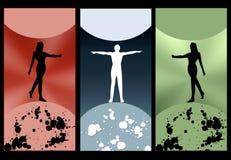 Bandiera colorata di Web illustrazione di stock