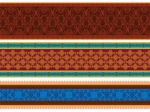 Bandiera Colourful /Border della mandala Fotografie Stock Libere da Diritti