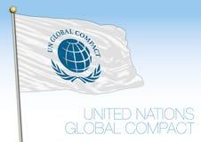 Bandiera compatta globale e simbolo delle nazioni unite royalty illustrazione gratis
