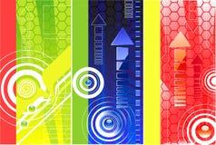 Bandiera con un reticolo cellulare Fotografia Stock Libera da Diritti