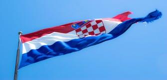 Bandiera croata Fotografie Stock Libere da Diritti