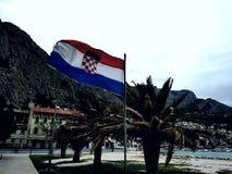 Bandiera croata nazionale Fotografia Stock Libera da Diritti