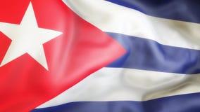 Bandiera, Cuba, rinunciante bandiera di Cuba Fotografie Stock Libere da Diritti