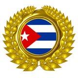 Bandiera cubana illustrazione di stock