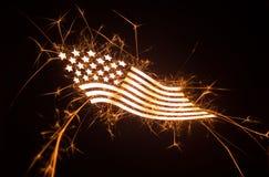 Bandiera curvy frizzante su fondo scuro Fotografia Stock