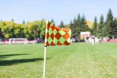Bandiera d'angolo (calcio) Fotografie Stock