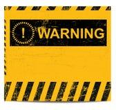 Bandiera d'avvertimento Immagine Stock