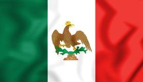 bandiera 3D del Messico & di x28; 1821-1823& x29; Immagini Stock