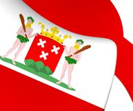 bandiera 3D dello zoom op il Brabante Settentrionale, Paesi Bassi di Bergen royalty illustrazione gratis