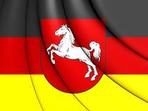 bandiera 3D di Bassa Sassonia, Germania Immagini Stock Libere da Diritti