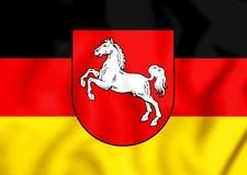 bandiera 3D di Bassa Sassonia, Germania Immagine Stock Libera da Diritti