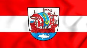 bandiera 3D di Bremerhaven, Germania Immagine Stock