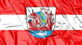bandiera 3D di Bremerhaven, Germania Fotografia Stock