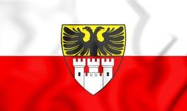 bandiera 3D di Duisburg & di x28; Il Reno-Westphalia& del nord x29; , La Germania Immagine Stock