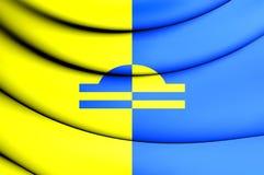 bandiera 3D di Ede Gelderland, Paesi Bassi Fotografie Stock Libere da Diritti