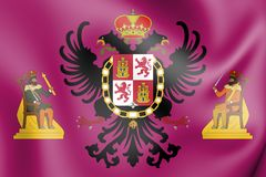 bandiera 3D di Toledo City, Spagna royalty illustrazione gratis