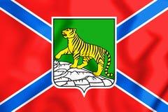 bandiera 3D di Vladivostok, Russia Immagini Stock Libere da Diritti
