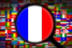 Bandiera d'ingrandimento Francia Fotografia Stock Libera da Diritti