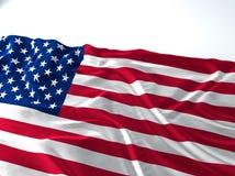 Bandiera d'ondeggiamento degli Stati Uniti d'America Immagine Stock Libera da Diritti