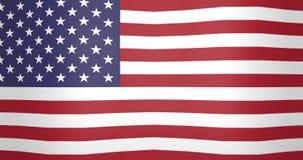 Bandiera d'ondeggiamento del fondo di ciclaggio di U.S.A. archivi video