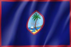 Bandiera d'ondeggiamento del Guam Immagine Stock Libera da Diritti