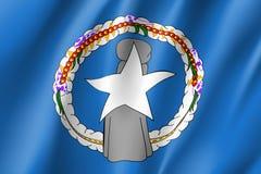 Bandiera d'ondeggiamento del Mariana del Nord Immagini Stock Libere da Diritti