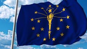 Bandiera d'ondeggiamento dell'Indiana royalty illustrazione gratis