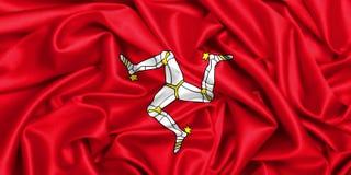 bandiera d'ondeggiamento 3d dell'Isola di Man Fotografie Stock