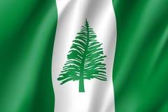 Bandiera d'ondeggiamento dell'isola Norfolk Fotografia Stock Libera da Diritti