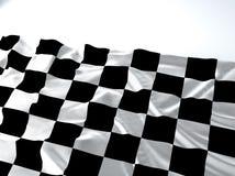 Bandiera d'ondeggiamento della corsa Immagine Stock Libera da Diritti