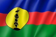 Bandiera d'ondeggiamento della Nuova Caledonia Fotografia Stock