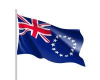 Bandiera d'ondeggiamento delle Isole Cook Fotografie Stock Libere da Diritti