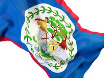 Bandiera d'ondeggiamento di Belize Immagini Stock Libere da Diritti