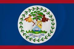 Bandiera d'ondeggiamento di Belize Immagine Stock Libera da Diritti