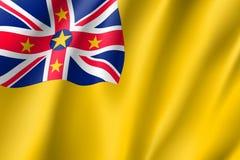 Bandiera d'ondeggiamento di niue Fotografia Stock