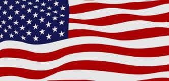Bandiera d'ondeggiamento di U.S.A. Fotografia Stock Libera da Diritti