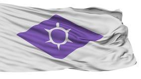 Bandiera d'ondeggiamento isolata della capitale di Kofu illustrazione di stock