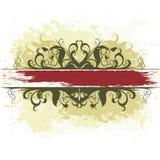 Bandiera decorata Immagine Stock