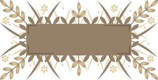 Bandiera decorativa Fotografie Stock