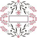 Bandiera decorativa Fotografia Stock