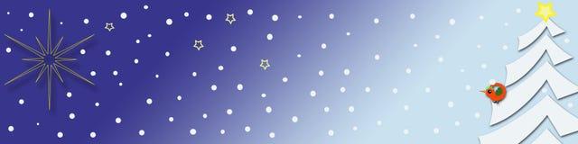 Bandiera decorativa di natale Immagine Stock