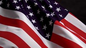 Bandiera degli Stati Uniti che ondeggia in vento sulla festa dell'indipendenza in America nel Mo lento stock footage