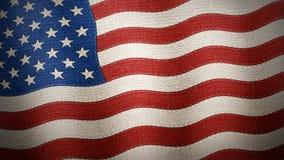 Bandiera degli Stati Uniti d'America strutturata - illustrazione Immagine Stock