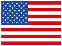 Bandiera degli Stati Uniti d'America su un fondo bianco royalty illustrazione gratis