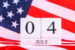 Bandiera degli Stati Uniti d'America U.S.A. per il quarto luglio Immagini Stock Libere da Diritti