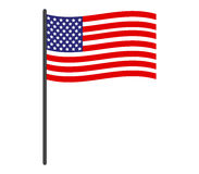 Bandiera degli Stati Uniti dell'icona illustrata Fotografia Stock
